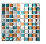 Tile & Sticker Feuille de sticker pour carrelage en gel effet mosaïque et imitation...
