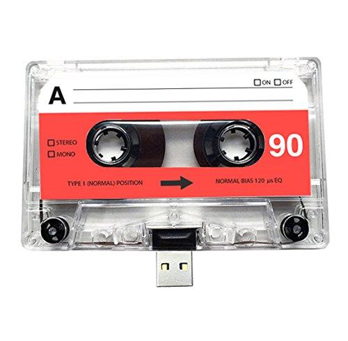 USB Mix cinta, Retro, Quirky, música, fresco, lindo, amor, regalo, novio, novia, 80s, 90s, Danza, Rock, Rnb, Hip Hop, Gadget, Geek, oficina, novedad, cumpleaños, boda, aniversario, Valentines, Navidad, regalos para ella, regalos para él, Thoughtful, unidad flash, casete, Boom Box, cinta, diversión, subir canciones, fotos y vídeos (16.00 GB)