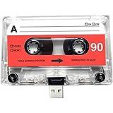 USB Mix cinta, Retro, Quirky, música, fresco, lindo, amor, regalo, novio, novia, 80s, 90s, Danza, Rock, Rnb, Hip Hop, Gadget, Geek, oficina, novedad, cumpleaños, boda, aniversario, Valentines, Navidad, regalos para ella, regalos para él, Thoughtful, unidad flash, casete, Boom Box, cinta, diversión, subir canciones, fotos y vídeos transparente 8 gb