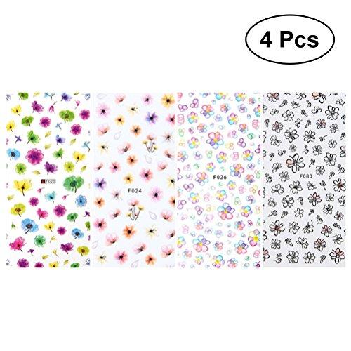 -Kunst-Aufkleber-Abziehbild-Mädchen-Nagel-Aufkleber-Fertigkeit bevorzugt 4Pcs ()