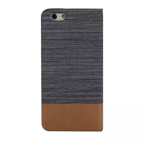 Mixte Motif Couleur Case, Canvas PU étui en cuir Support Case avec fente pour carte de couverture de silicone TPU souple pour iPhone 6 6S ( Color : 2 , Size : IPhone 6S 6 ) 1