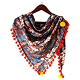 #6: MAJESTICA Women's Due Drop On Floral Digital Printed Triangle Scarf