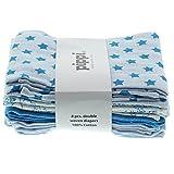 Pippi Baby - Jungen Schal Diapers Ao-Printed 8-Pack,Mehrfarbig (Blau), Einheitsgröße (Herstellergröße:70*70 cm)