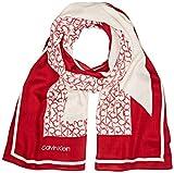 Calvin Klein Damen GEO QUILT SCARF Schal, Rot (Lipstick Red 635), One Size (Herstellergröße: OS)