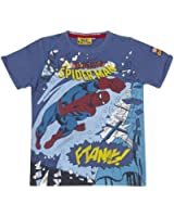 Kid's Spider-Man 'Smash' Blue T-Shirt