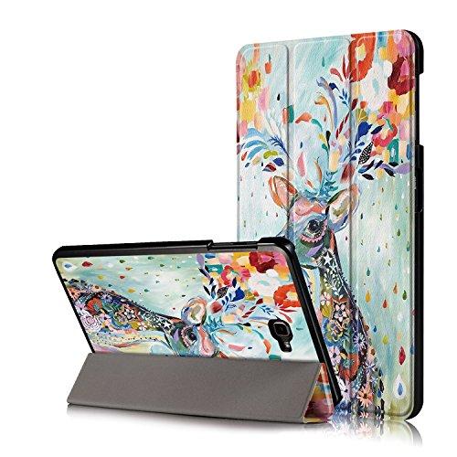 Xuanbeier Ultra Slim Custodia Leggero Supporto Smart Cover con Funzione Sleep/Wake per Samsung Galaxy Tab A6 10.1 25,7 cm sm-t580 N T585 N, Deer