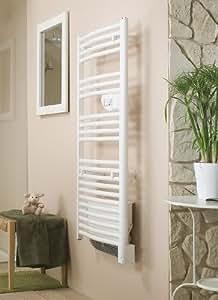 Riva 2 - Radiateur sèche-serviettes design/Longueur : 550 - hauteur : 1772 - Epaisseur : 150 /2 électrique avec soufflerie - 1000 + 1000 W /471471