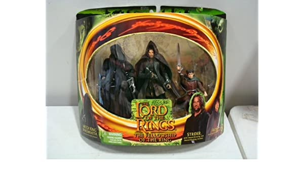 THE LORD OF THE RINGS FELLOWSHIP FRODO ACTION FIGURE WITH SWORD ATTACK