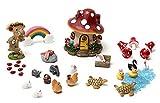 secretrain micro paesaggio muschio ornamento in miniatura giardino decorazione fai da te, 33 pezzi
