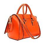 Sharplace Damen Handtasche Elegante Umhängetasche Schultertasche aschen Shopper Henkeltaschen - Orange