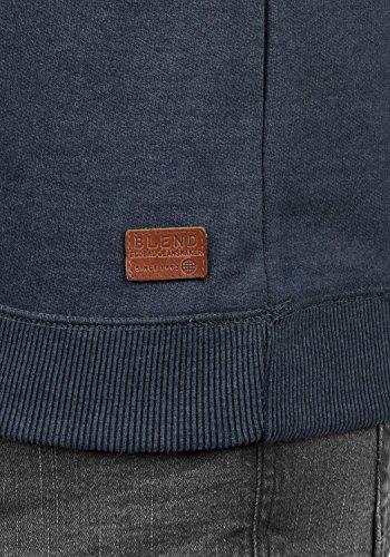 BLEND Alexandros Herren Sweatshirt Pullover Sweater Troyer aus hochwertiger Baumwollmischung Meliert Navy (70230)