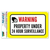 ACHTUNG Eigentum unter 24Stunden Mag-Neato 's-Überwachung TM Vinyl Magnet Schild
