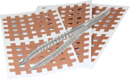 mediAID Crosslings / Spiral-Crosslings (Akupunkturpflaster) in 3 Größen - Das Original inkl. Pinzette (Braun (4.0cm x 5.0cm) 40 Stk.)