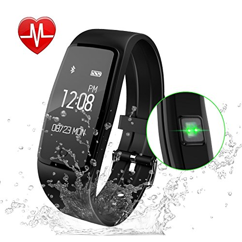 Fitness Tracker Watch, GULAKI IP67 Waterproof Smart Bracelet GPS Smartwatch for Health Activity Workout Exercise Tracker with Heart Rate Monitor for Android and IOS Smart Phones