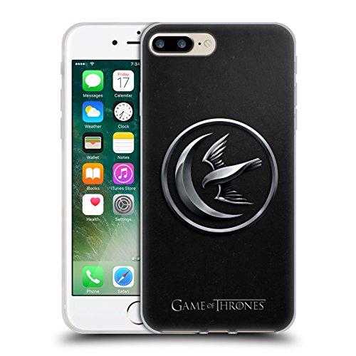 Offizielle HBO Game Of Thrones Gold Targaryen Sigils Soft Gel Hülle für Apple iPhone 6 / 6s Silber Arryn