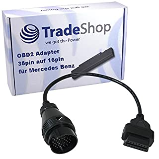 OBD OBD2 Diagnose Adapter Kabel für Mercedes Benz 38 Pin Anschluss, Extra dickes Kabel, Hochwertige Verarbeitung und Qualität