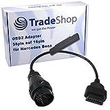 38Pin Rundstecker Mercedes Benz ODB DLC Adapter für 16Pin ODB2 Stecker Autoboss / AutoDia / Bosch KTS / BPS-100 / DXM / Hella Gutmann / KKL Interface / iCarsoft i810 i980 / Launch C-Reader
