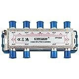 Schwaiger VTF8848241 High-End-Verteiler 8-fach für BK- und GA-Anlagen (110 dB)