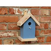 Bird Nesting Box for blue tits, coal tits and marsh tits - conforms to RSPB specification - Blue