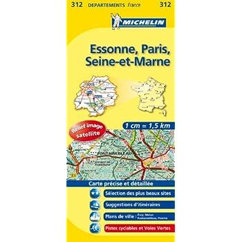 Carte DPARTEMENTS Essonne, Paris, Seine-et-Marne