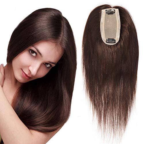 chthaar Extensions Clip in Toupee Haarverlängerung Lace Front Closure Toupet für Frauen 12