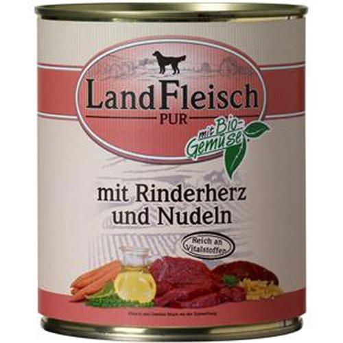 LandFleisch | Pur Rinderherz & Nudeln | 6 x 800 g