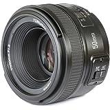 عدسة يونجنيو واي ان 50 ملم بتركيز بؤري/1.8 الرئيسية بنظام التركيز التلقائي بفتحة كبيرة، متوافقة مع كاميرا نيكون الرقمية ذات ا