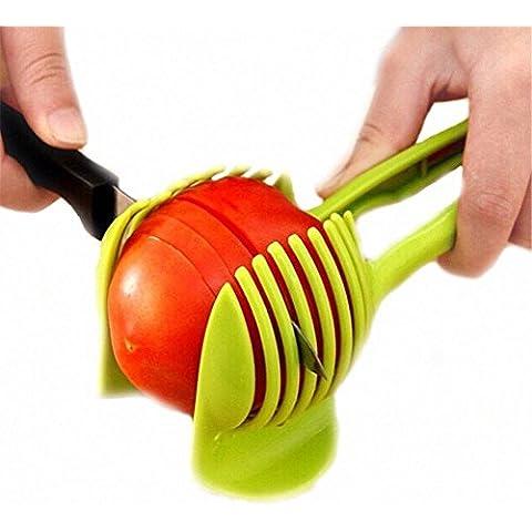 Net Solutions - rebanadora de tomates, de patatas, limones, Con un soporte para sujetarla