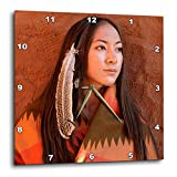 """15 by 15 : 3dRose New Mexico, Cherokee Woman, Native American US32 JMR0634 Julien Mcroberts Wall Clock, 15 by 15"""""""