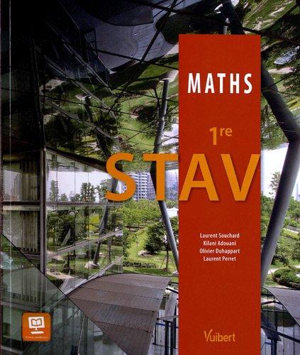 Mathématiques 1re STAV - Nouveau programme