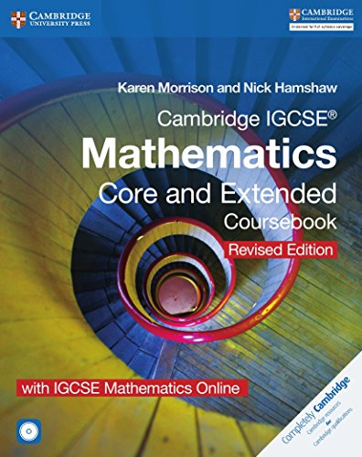 Cambridge IGCSE mathematics. Core and extended Coursebook. Revised edition. Per le Scuole superiori. Con e-book. Con espansione online. Con CD-ROM