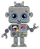 PatchMommy Roboter Patch Aufnäher Applikation Bügelbild - zum Aufbügeln oder Aufnähen - für...