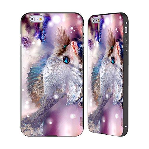 Ufficiale Runa Pesce Rosso Creature Del Mare Nero Cover Contorno con Bumper in Alluminio per Apple iPhone 5 / 5s / SE Pesce Triste