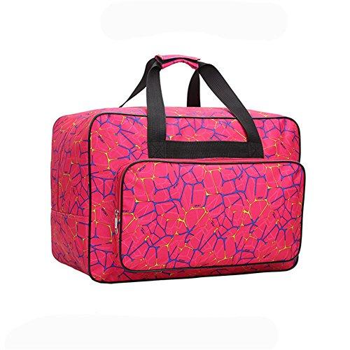 HomeYoo Borsa per Macchina da Cucire, Borsa di trasporto universale in nylon, custodia di trasporto universale imbottita per bagagli con tasche e maniglie (Red)
