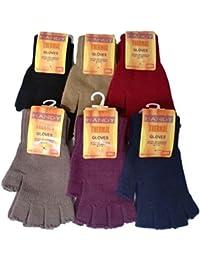 Gents or Womens 2 Pack Handy Thermal Gloves Full Finger or Fingerless