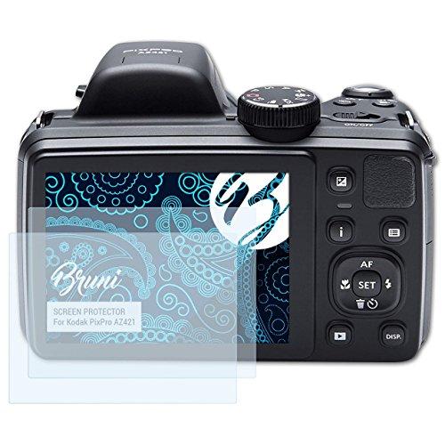 Bruni Schutzfolie kompatibel mit Kodak PixPro AZ421 Folie, glasklare Bildschirmschutzfolie (2X)
