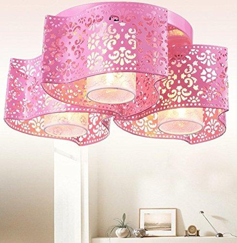 LED Round Deckenleuchte Moderne Einfachheit Wohnzimmer Leuchten Schlafzimmer Licht Balkon Leuchten Küche Lampen Lamps (Pink)