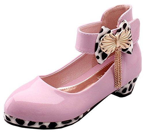Scothen Prinzessin Ballerinas Party Schuhe Festliche Schuhe Mädchen Studenten Lederschuhe Tanzschuhe Schmetterling Party Absatz-Schuhe Mädchen Kostüm Schuhe-Schleife Pailletten Karneval Festlich