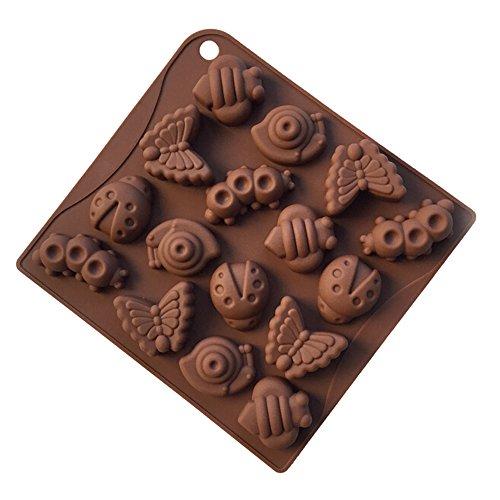 YOKIRIN® Stampo in Silicone Formi di Animale Accessorio per la Decorazione Della Torta del Fondente di Cioccolato stampi Zucchero Torte Stampi Sapone(Colore Casual) - 4 Cutter Tubo Di Acciaio