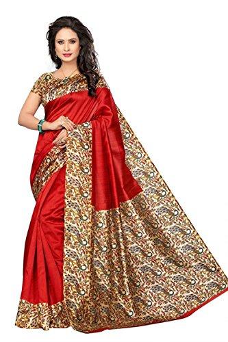 Indien Bollywood De Mariage Saree Indien De Mariage Ethnique Sari Nouvelle Robe Dames Casual Tissu Anniversaire Crop Top Fille Femmes Plaine Traditionnelle Partie Porter Costume (Red)