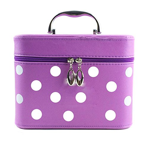 Jiaqing Ladies Grande Capacità Multifunzione Travel Cosmetic Bag Generale Borsa Cosmetica Impermeabile Nylon Portable Purple