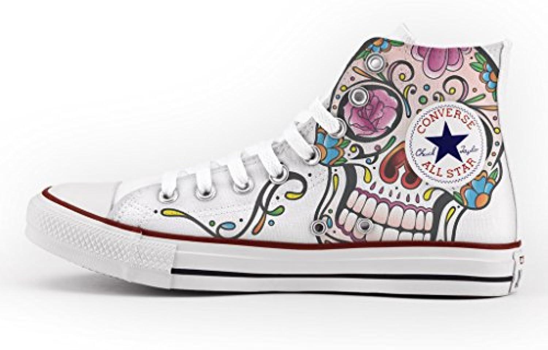 Converse skull Personalizzate con stampa Mexican skull Converse - scarpa artigianale - e5f76b