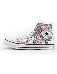 Converse Personalizados e impresos - zapatos de artesanía - Mexican Skull