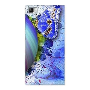 Impressive Premier Blue Shell Butterfly Multicolor Back Case Cover for Xiaomi Mi3