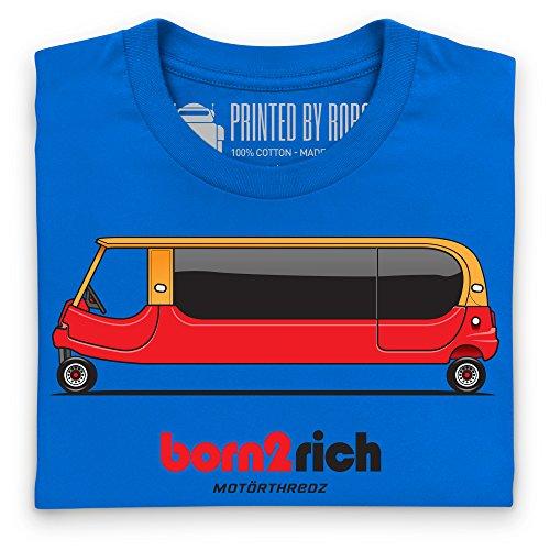 General Tee Born 2 Rich T-shirt, Uomo Blu royal