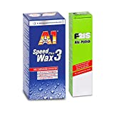 DR. WACK-SET Dr. Wack A1 Speed Wax Plus 3 Wachs 2731 + P21S Alu Polish Politur 1280