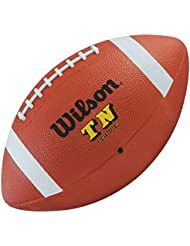 WILSON top notch official size rubber american football [brown]