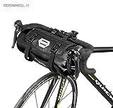 Borse per Manubrio Bici Jhua Impermeabile MTB Anteriore Cestello per Borsa Accessori portabici Borse Bici Rimovibili per Grandi portate 3-7L