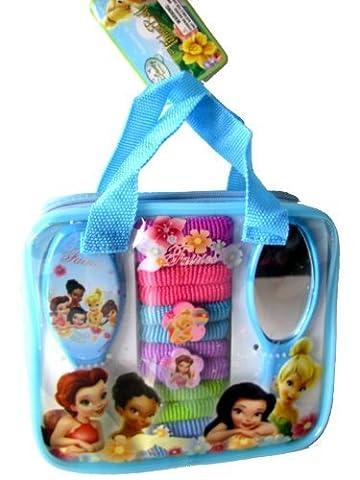 Disney Tinker Bell Fashion Hair Accessory & Hair Brush Set ((15 pcs Set) by Tinkerbell