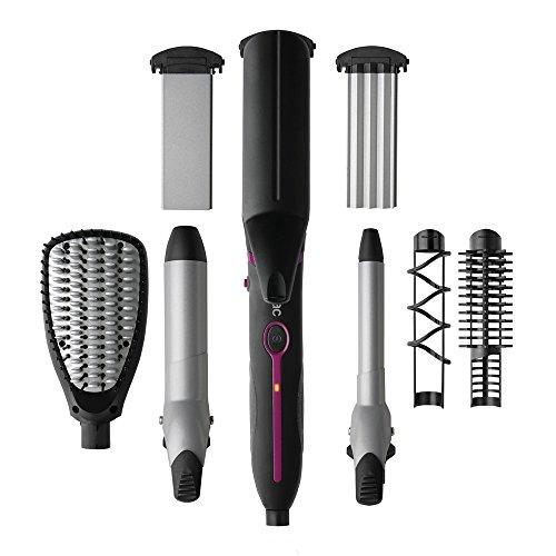 Multistyler de Solac Expert Total Style 7 in 1 Lockenstab schnelles und gleichmäßiges Erhitzen Ein Werkzeug für vielfältige Frisuren.